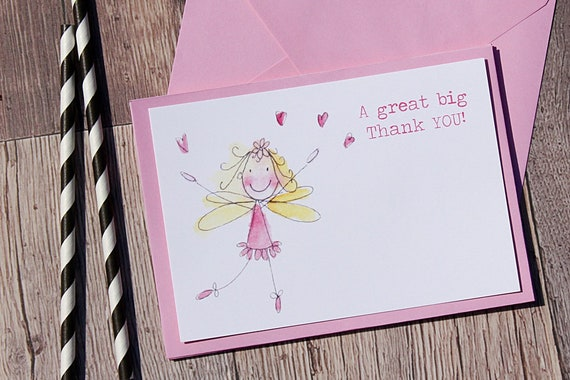 Thank you cards, Princess thank you cards, Fairy thank you cards, girls thank you cards, invitations for girls, childrens cards, invitations
