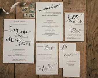 Neutral Stationery Suite Sample Pack