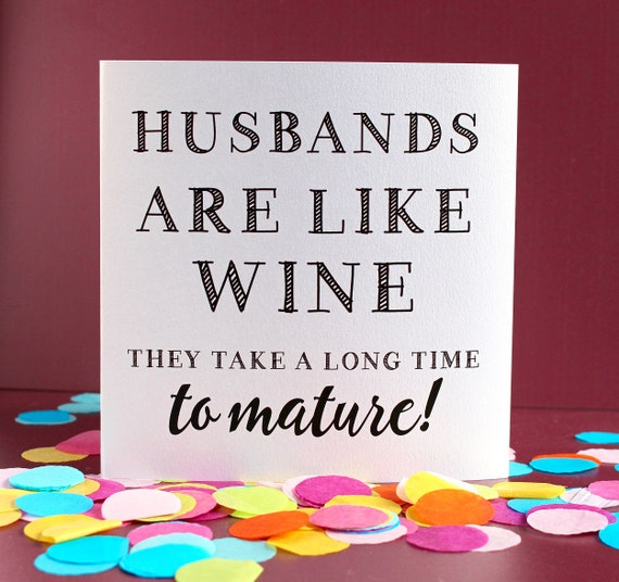 I love you card, Funny love Anniversary card, Rude Marriage Card, card for couples, card about husbands