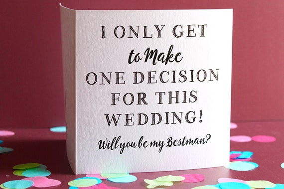 Will You Be My Best Man Card, Bridal Party Card, Best Man proposal card, Wedding Cards