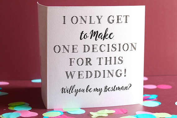 Will You Be My Best Man Card, Bridayl Party Card