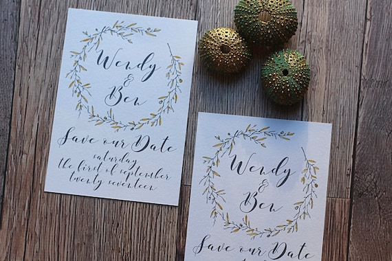 Save the date cards, elegant grey and gold, save our date, A6 Cards and envelopes, wedding stationery and invitations
