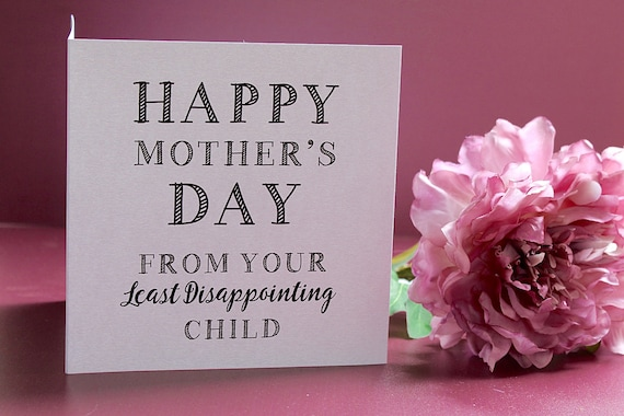 Funny Mothers Mother/'s Day Card Mum Mummy Amusing Cheeky Beautiful Gold Foiled