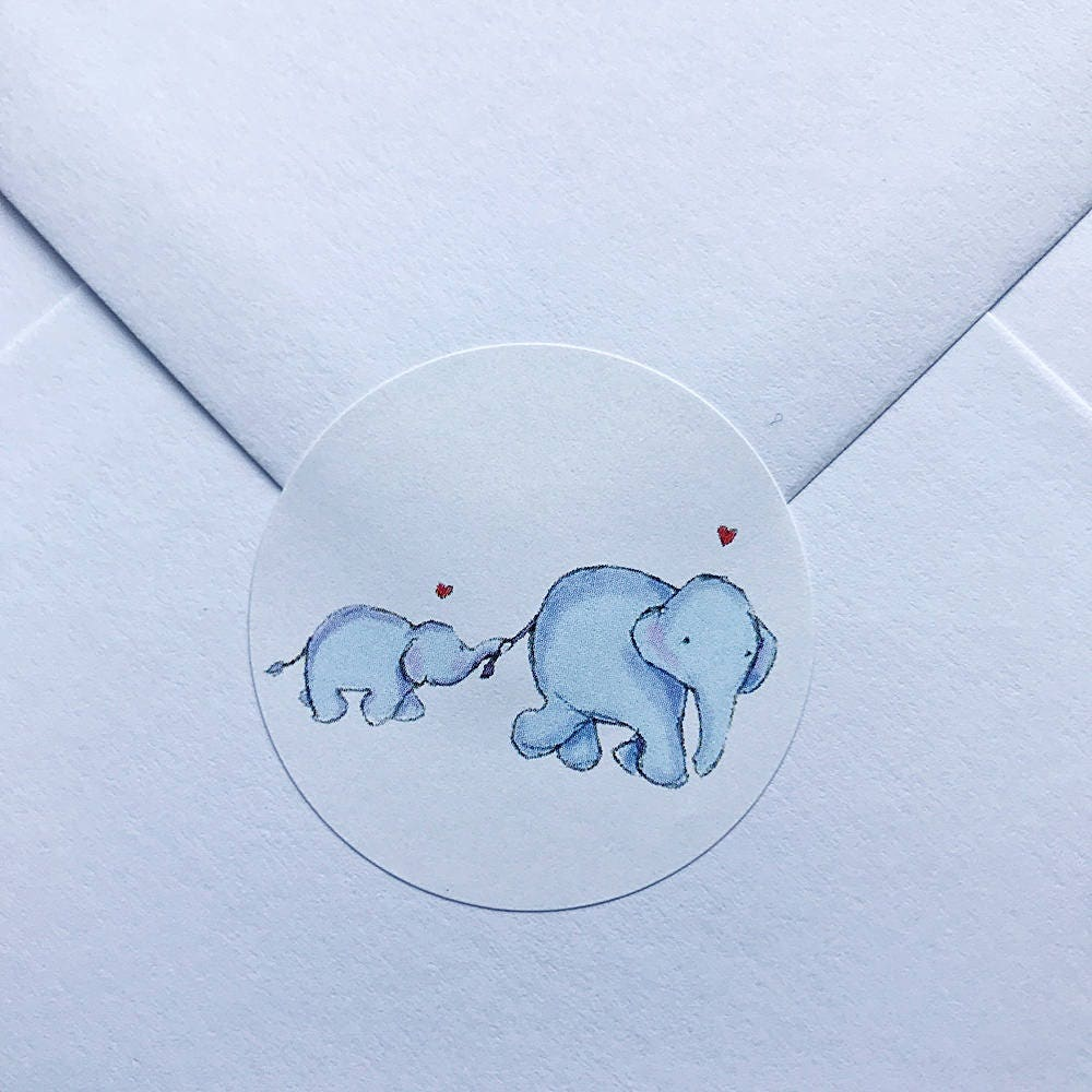35 x Baby Shower Personalised Stickers Baby Boy 37mm Baby Shower Favours