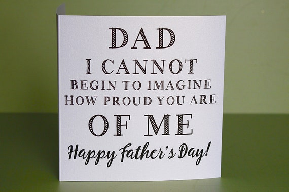 Happy Father's day Card, Cards for Dad, funny and rude cards for men