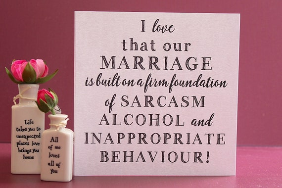 I love you card, Funny love Anniversary card, Rude Marriage Card, card for couples
