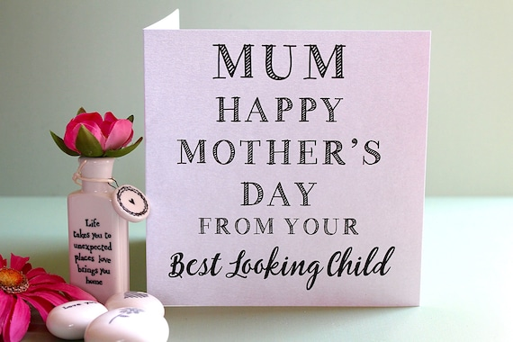 Funny Mother's day card, Funny card for mum, Card for mom, Mothers day card, Funny card, Card favourite child, Humour card