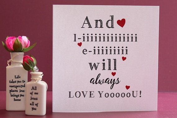 I love you card, Funny just because or Valentines card