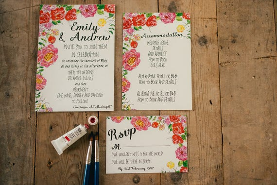 Wild Roses Stationery Sample Pack