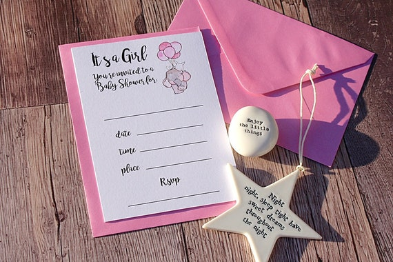 Baby Shower Invitations, Birth Announcement, New Baby Party Invites