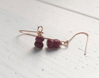 Ruby Earrings, July Birthstone Gift, Natural Ruby Jewelry, July Birthday Gifts, Gift For Her, Ruby Anniversary Wife, Wife Gift, Mum Gift