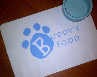Personalised Pet Feeding Mat