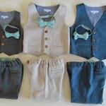 Boys Linen Suit (Vest and Pants) - Baby Suit - Toddler Suit - Formal Linen Boys Suit