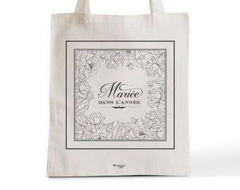 Sac Tote Bag Mariée Dans l'Année