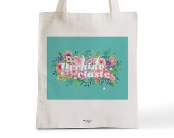 Bag Tote Bag color Orchidoclaste flowery language
