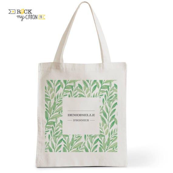 Einkaufstasche Hochzeit Brautjungfer Romantisches Geschenk Typografie Wo Zeuge Eingeladen