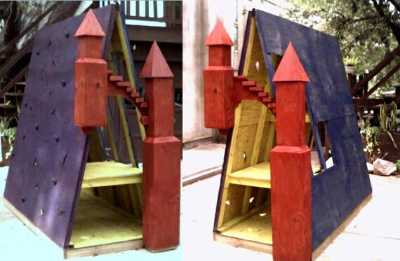 Mountain Castle climbing wall / fort / playhouse plans