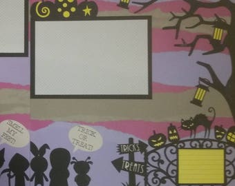 trick-or-treat premade scrapbook page