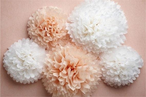 Paper pompom 21 tissue paper flower balls wedding etsy image 0 mightylinksfo
