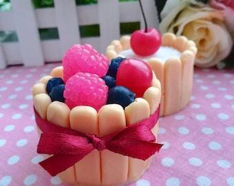 Savoiardi Mold Savoiardi Cake Mold Dessert Mold Sweet Biscuit Mold Fake Cake Mold 3d Savoiardi Dessert Molds with berries Mold Berry Mold