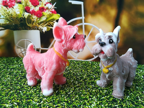 3d cachorro Pug silicona vela moldes resina arcilla moldes de molde para tarta de Chocolate fondant decoraci/ón de pasteles tools-pink jab/ón
