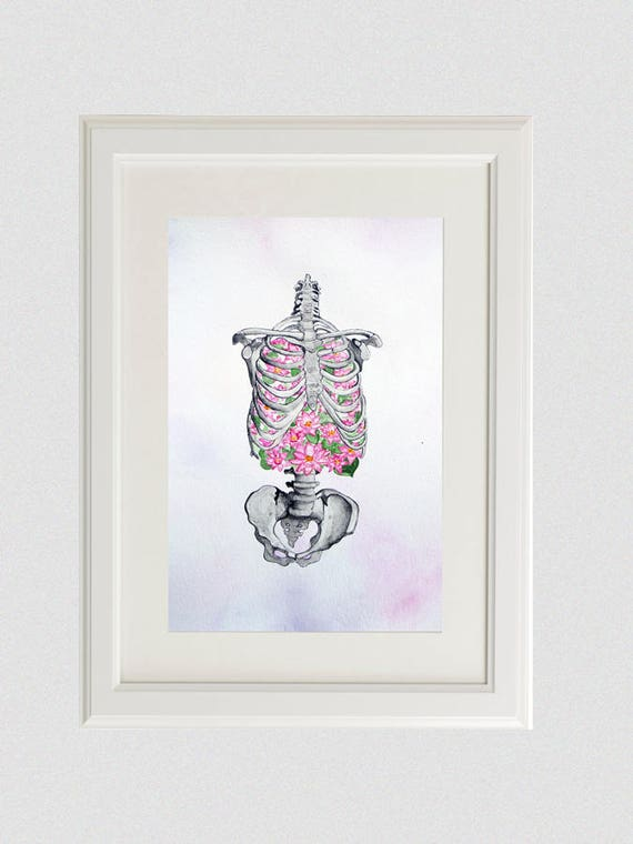 Brustkorb Anatomie Malerei Weihnachten Geschenk Fairytale
