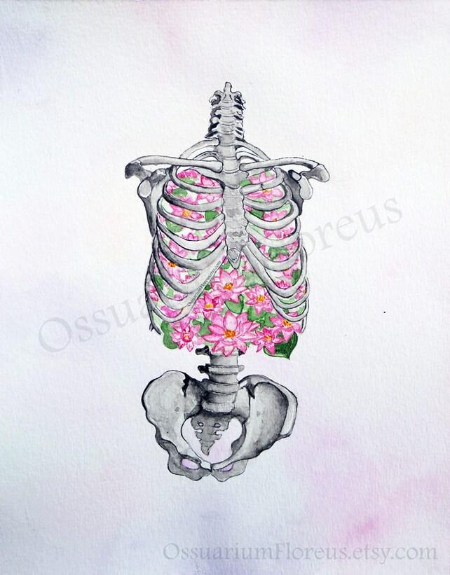 Brustkorb Anatomie Malerei Weihnachten Geschenk Fairytale | Etsy