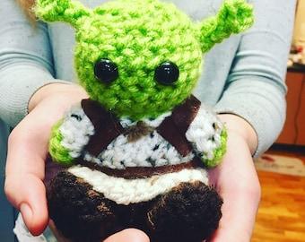 Shrek Crochet Doll