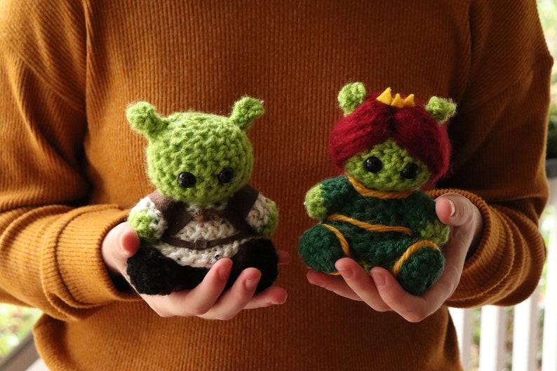 d9206ad11d47 Shrek and Fiona Crochet Doll