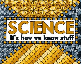 Science: It's How We Know Stuff - An Instant Download Adult Coloring Page for Science Enthusiasts