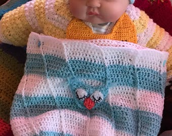 Newborn baby cocoon owl with has