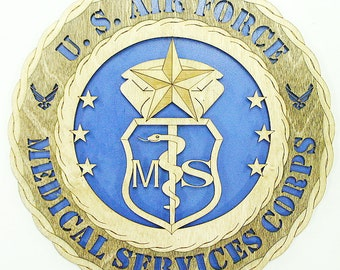USAF 3D Medical Service Badge Approx 10-11 Wide United States Air Force Your Choice