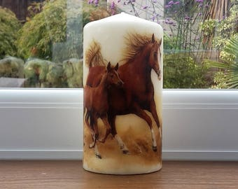 horse candle - horse lover gift - horse decoration - animal candle - horse rider gift - western decor