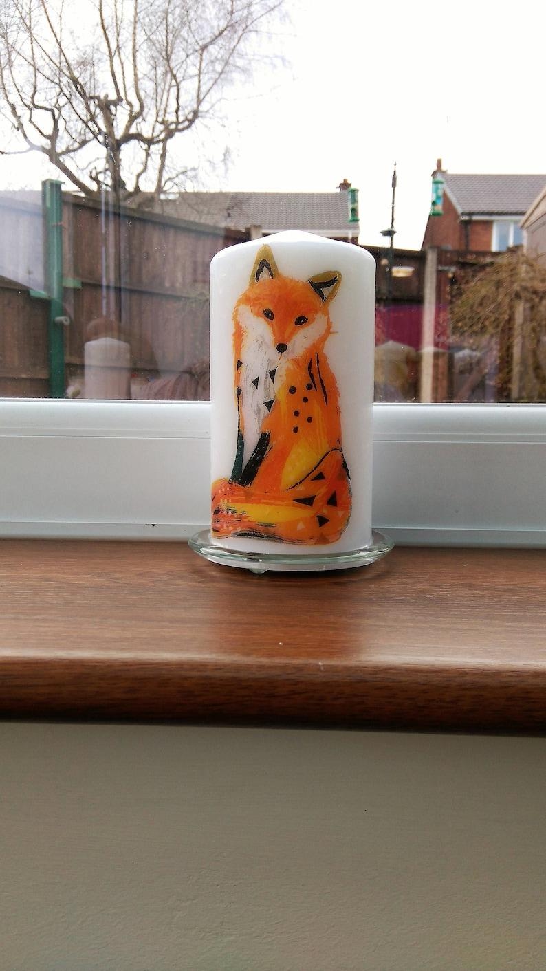 Woodland Fox decorative candle image 0