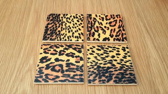 Leopard Print Coasters Animal Print Home Decor Etsy - Decor-uas