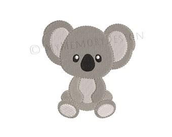 Koala embroidery design, Machine embroidery design, Animal embroidery, Kindergarten embroidery , Boy embroidery, Mini embroidery, 4 SIZES
