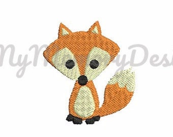 Fox embroidery - Forest animals embroidery - Animal embroidery - Baby embroidery - Machine embroidery - Instant download - 5 size