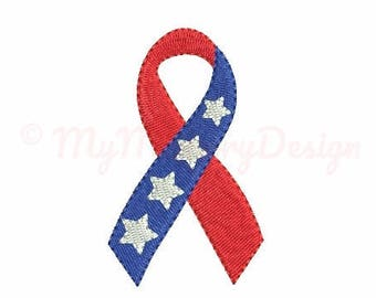 Ribbon embroidery design - Patriotic embroidery - Flag embroidery - Mini embroidery - Machine embroidery pattern - INSTANT DOWNLOAD - 5 size