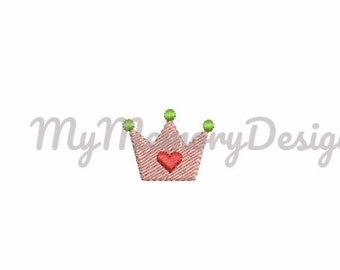 Girl embroidery design - Princess embroidery - Crown embroidery - Baby embroidery - Mini embroidery - INSTANT DOWNLOAD Machine embroidery
