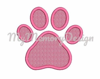 Paw Applique Design - Dog Paw Applique - Paw embroidery design - Instant download - Dog Applique - Animal - Embroidery  digital pattern