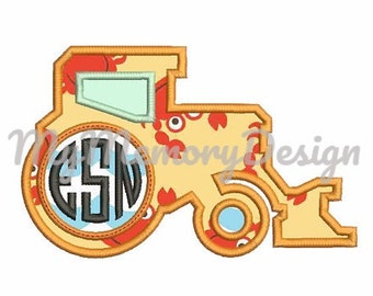 Boy embroidery - Tractor applique design - Children Embroidery design - Baby embroidery - Machine embroidery design -INSTANT DOWNLOAD-3 SIZE