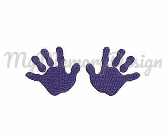 Baby hand embroidery design - Mini fill stitch embroidery - Baby embroidery - INSTANT DOWNLOAD - 5 SIZE - pes , hus,jef,vip,vp3,xxx ,dst,exp