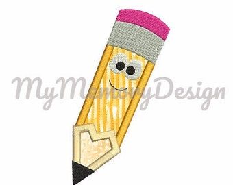 School embroidery design, Pencil applique design, Back to school embroidery design, Teacher embroidery, Machine embroidery, INSTANT DOWNLOAD