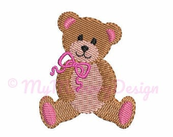 Teddy Bear Pattern Instant Download Machine Embroidery Design Sitting Teddy Embroidery Design Teddy Bear Embroidery Design