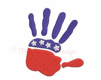 Hand embroidery - Flag embroidery design - Patriotic design - Machine embroidery INSTANT DOWNLOAD - pes hus jef vip vp3 xxx dst exp 4 sizes