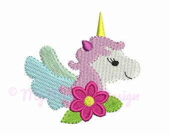 6 size Unicorn embroidery design - Small embroidery pattern - Baby girl design - Horse embroidery - Machine embroidery INSTANT DOWNLOAD file