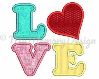 Valentine embroidery design, Machine embroidery design, Heart embroidery design, Love embroidery , Heart applique design, 3 SIZES