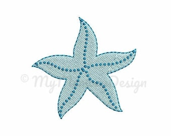 Starfish embroidery - Summer embroidery design - Sea design - Machine embroidery digital file - pes hus jef vip vp3 xxx dst exp - 5 sizes