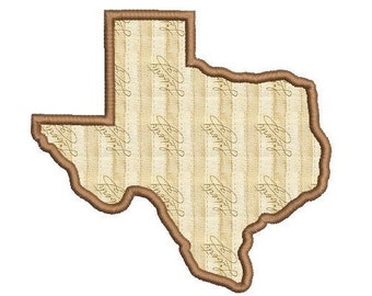 Texas Applique Design - Texas Embridery Design - State shape embroidery - Machine embroidery design - Instant download - 5 SIZE