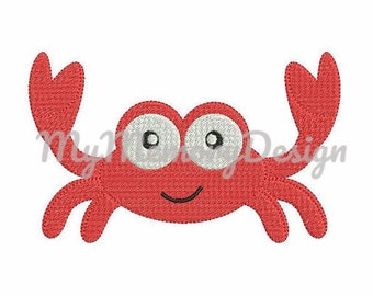 Crab embroidery design - Crab applique design - Sea - Animal - Fish - Boy - Girl - Baby -  Summer - Instant download - Machine Embroidery